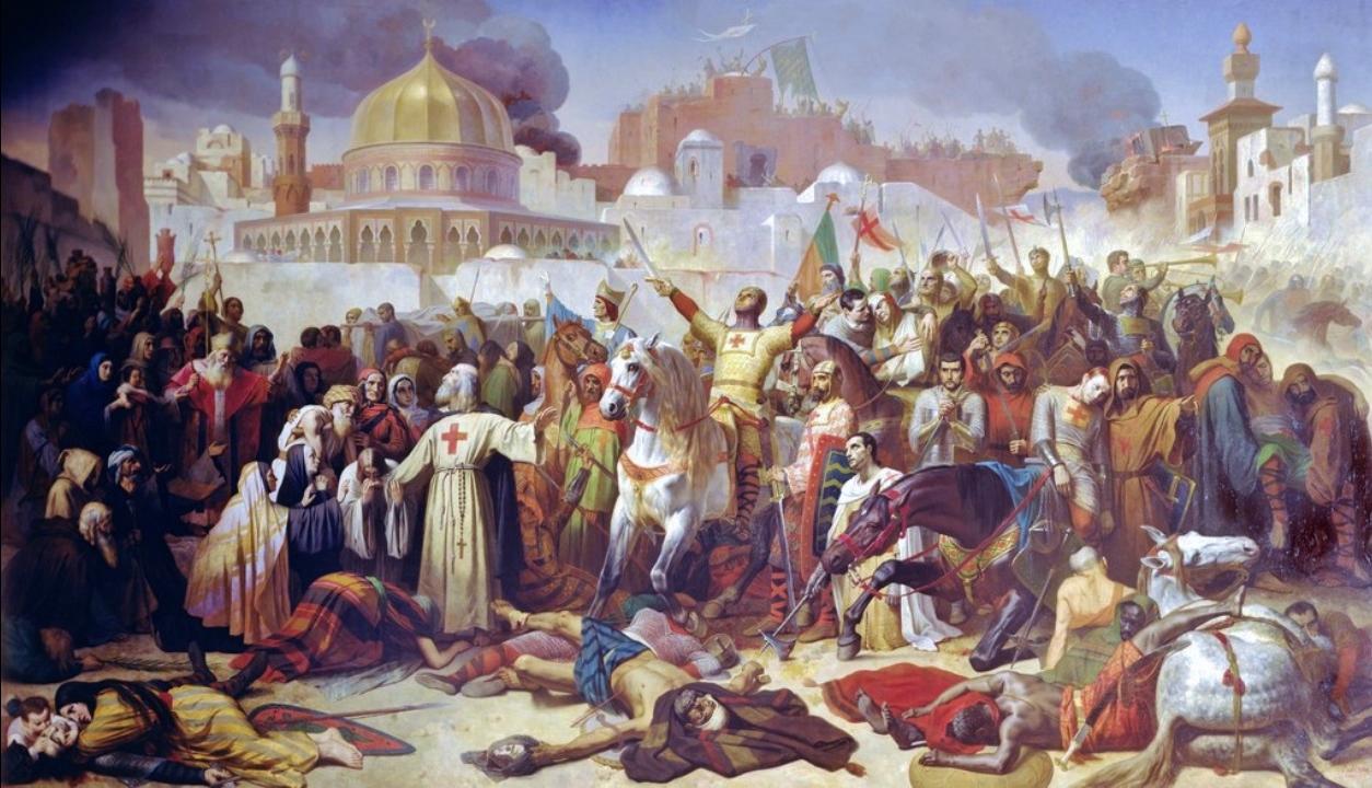 V roce 1099 dorazí křižáci k branám Jeruzaléma a úspěšně je prolomí.