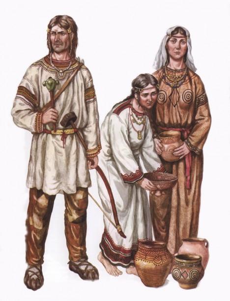 Slovanský otec neváhá nabídnout příchozím klidně i svoji manželku a dceru.