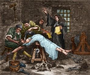 Illustration of torture of serial killer Madame de Brinvilliers