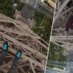 VIDEO: Mladík tajně vyšplhal na Eiffelovu věž!