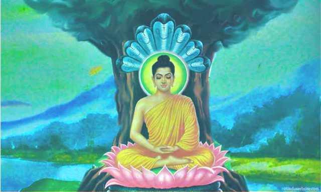 meditující Buddha