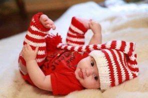 miminko v červeném