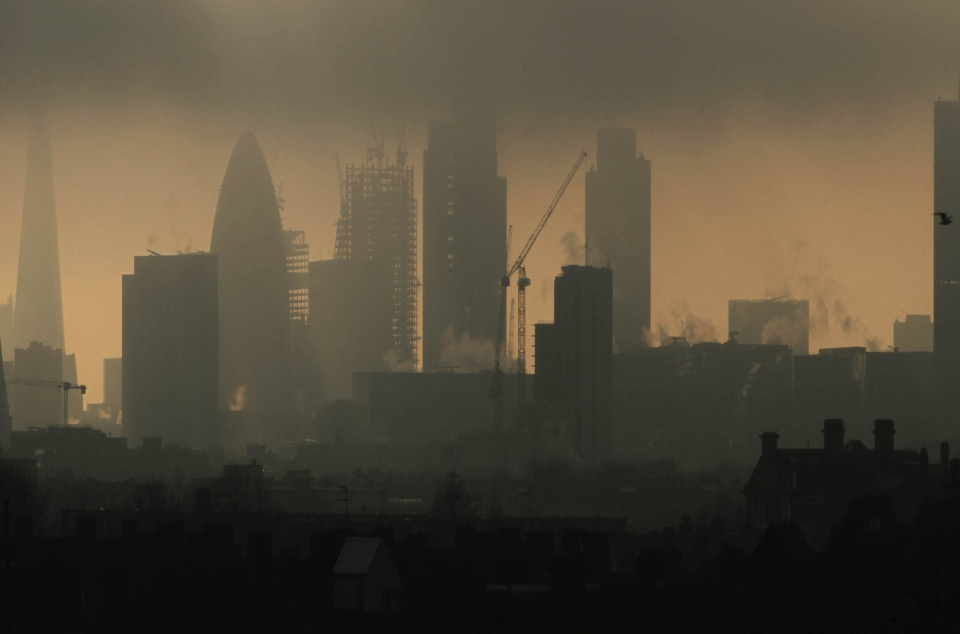A general view of the skyline of London, England.