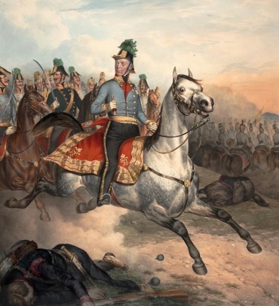 orig-I v té největší bitevní vřavě zůstává Radecký vždy se svými vojáky.