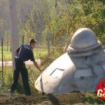 Skrytá kamera: Právě havarovaný létající talíř!