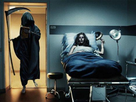 Foto: Mrazivá svědectví z nemocnic: Umírající doprovází přízrak v kápi!