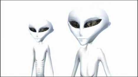 stock-footage-aliens-on-a-bright-white-background
