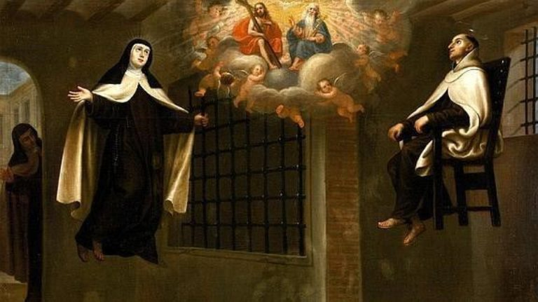 svatá Terezie z Ávily a svatý Jan z Kříže