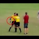 VIDEO: Brazilský rozhodčí vytáhl na hráče pistoli!