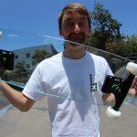 VIDEO: Jízda na extrémně nebezpečném skateboardu ze skla!